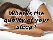 Woman sleeping and a question: What is the quality of your sleep?