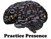 illustration of brain with a lot of texts inside it in all directions and sizes, symbolizing the constant chatter